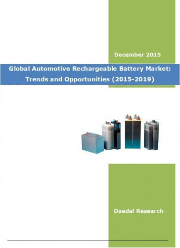 Global Automotive Rechargeable Battery Market: Trends and Opportunities (2015-2019)