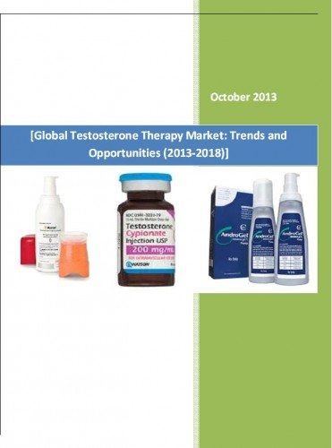 Global Testosterone Therapy Market (2013-2018) - Market Research Reports India
