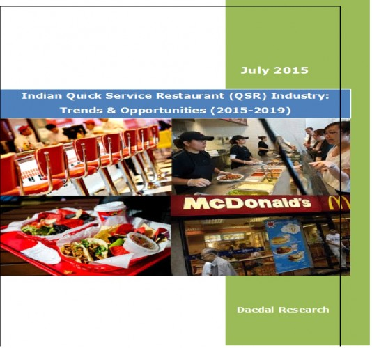 Indian Quick Service Restaurant (QSR) Industry (2015-2019) - Market Research Reports India