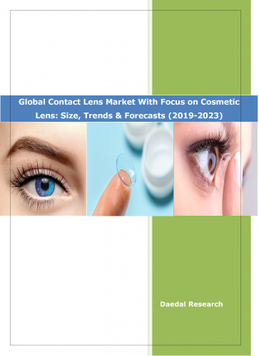 Global Contact Lens Market With Focus on Cosmetic Lens Market Report 2019-2023 || Daedal Research